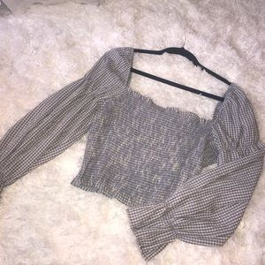 urban outfitters long sleeve synched top